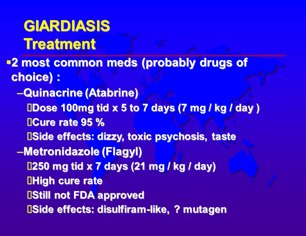 giardia medicine side effects)